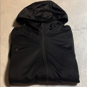 Nike Large fleece lined hooded jacket. L